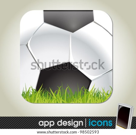 soccer and sports app icon for mobile devices