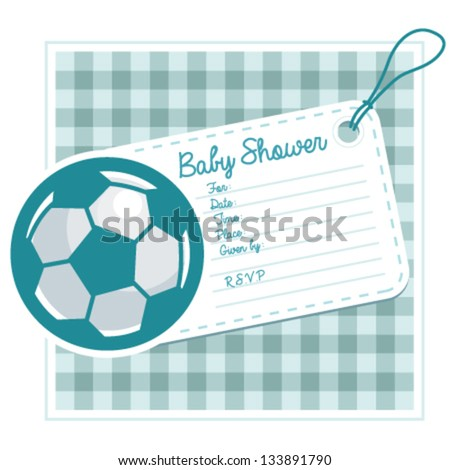 soccer baby shower invite card