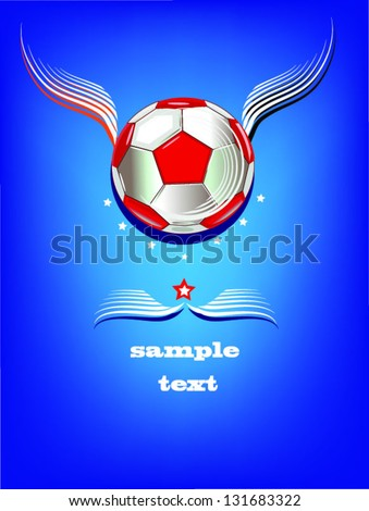 soccer background,decorative greeting card,blue background.