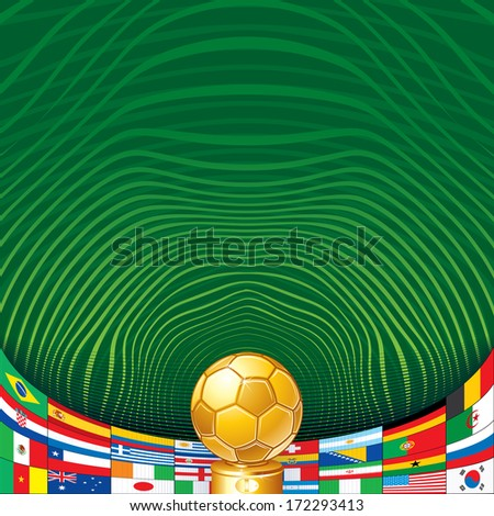 soccer background with golden