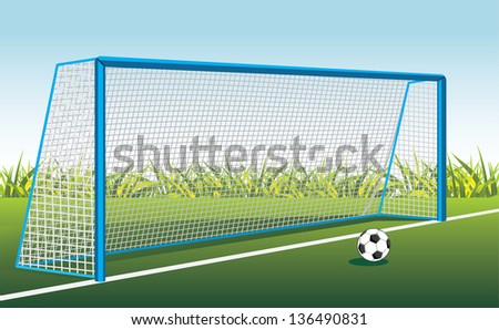 stock-vector-soccer-ball-and-gate-vector