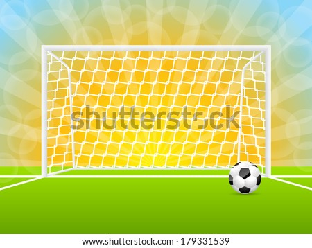 soccer ball and gate with