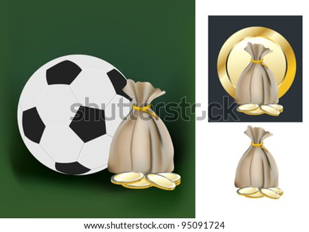 soccer ball and the money bag