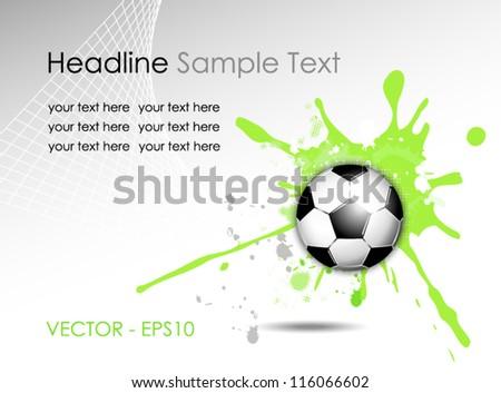 Soccer ball background