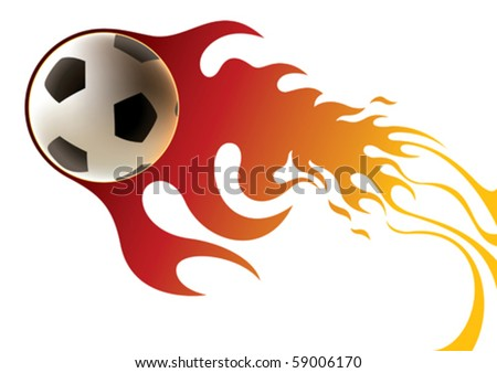 soccer ball banner with