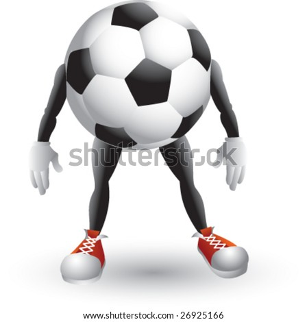 football ball cartoon. soccer all cartoon man
