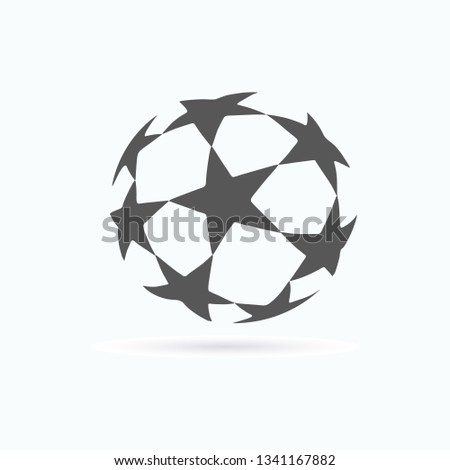 Soccer ball. Champions ball. Vector illustration. EPS 10.