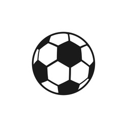 soccer ball equipment illustration vector design template on white background