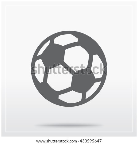 Soccer ball. Flat icon of graphical symbol of soccer (football) or sport in general. Vector illustration