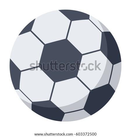 Soccer ball, football ball, vector illustration in flat style