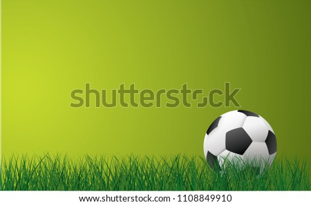 Soccer ball football banner poster green grass field illustration vector eps background wallpaper sign icon template EK WK Europees play model football 2018 street sports Russia finale world school