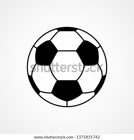 Soccer ball. Football. Vector icon isolated on white background. Flat vector illustration.