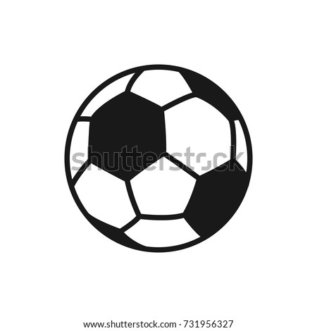 Soccer ball. Football. Vector icon of soccer ball isolated on white background. Flat vector illustration.