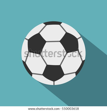 soccer ball icon flat