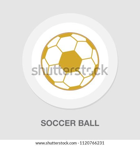 Soccer ball icon. Flat vector illustration - sports game symbol