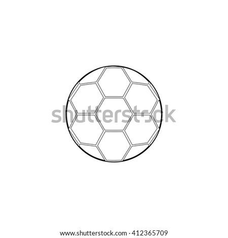 Soccer ball Icon. football