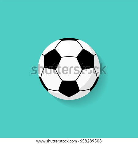 soccer ball icon in flat style