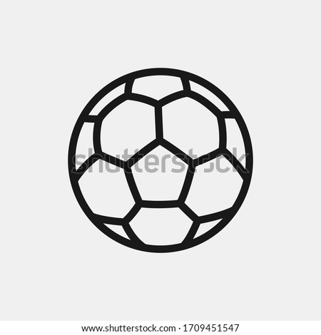 Soccer ball icon isolated on background. Football symbol modern, simple, vector, icon for website design, mobile app, ui. Vector Illustration