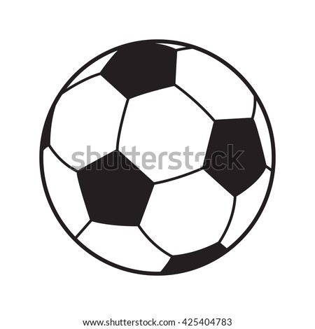Soccer ball icon. Soccer ball isolated on white background. Logo Vector Illustration. Football sports symbol, Championship soccer goal World Soccer championship. Football world icon 2018 label sticker