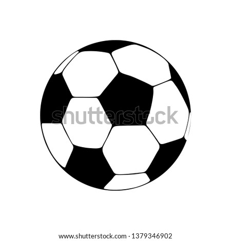 Soccer ball Icon Vector, Flat sign style