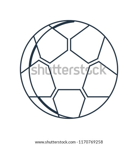 Soccer ball icon vector isolated on white background for your web and mobile app design, Soccer ball logo concept
