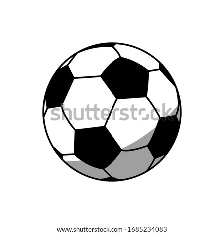 Soccer ball icon vector sign and symbols