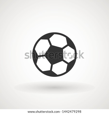 Soccer ball icon vector sign, illustration Ball, Football, Soccer, Sport Abstract Circle Background Flat icon