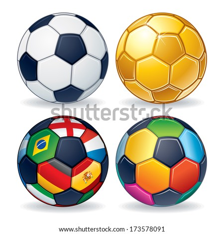 soccer ball icons classic