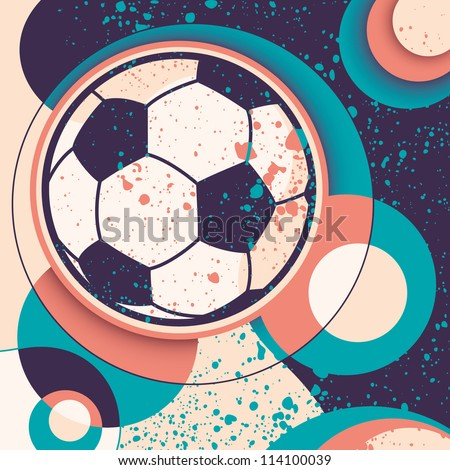 Soccer ball illustration with abstraction.Vector illustration.