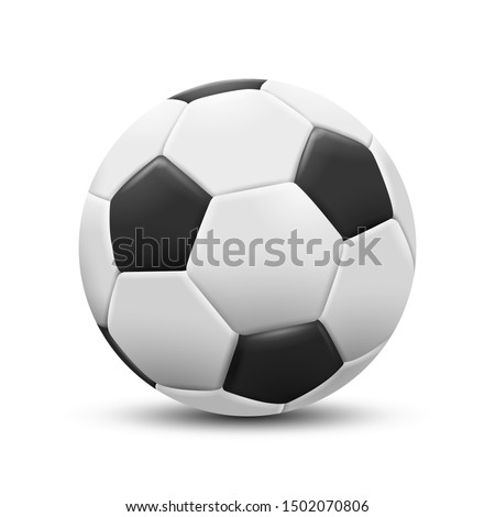 Soccer ball isolated on white background. Vector Illustration.