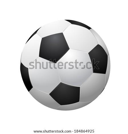 soccer ball isolated on white  background. vector illustration EPS10