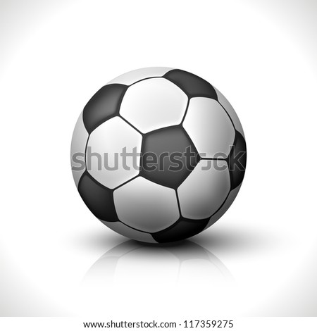 Soccer Ball isolated on white. Vector Illustration