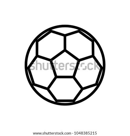 soccer ball line art  vector template
