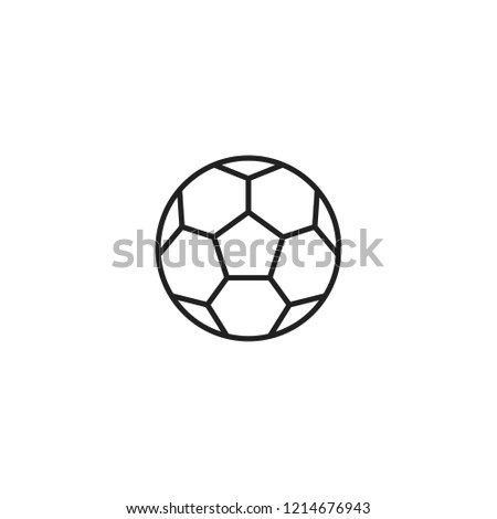 Soccer ball line icon, outline vector sign. Football symbol, logo illustration. Soccer ball,football vector line icon, sign.