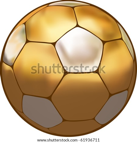 soccer ball made of gold and