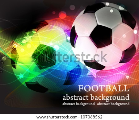 Soccer ball on a transparent abstract background