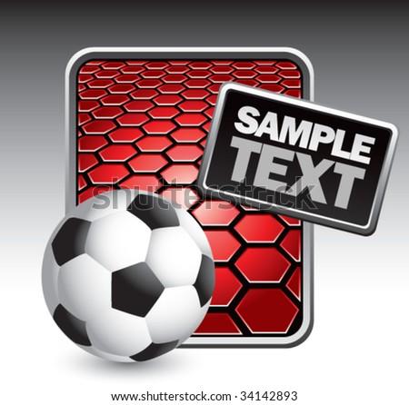 soccer ball on hexagon background