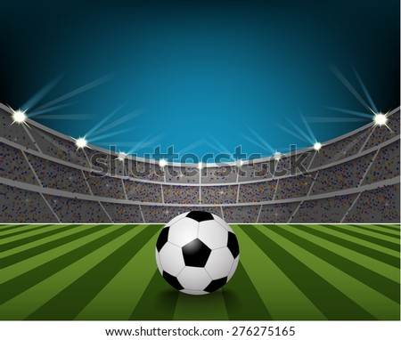 soccer ball on the field of