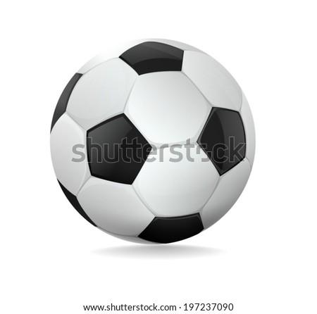 Soccer ball on white background. Vector illustration. #197237090
