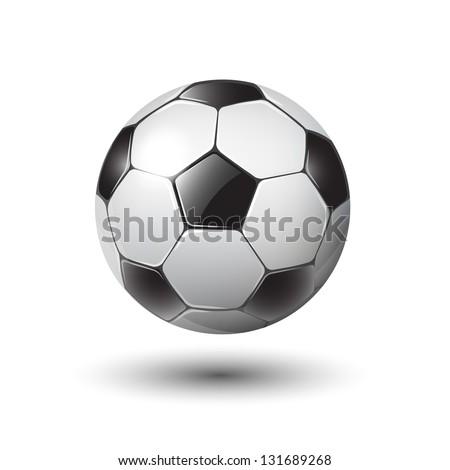 soccer ball on white eps10