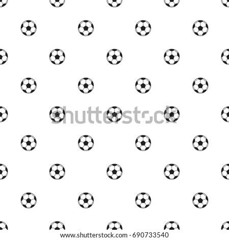 soccer ball pattern seamless