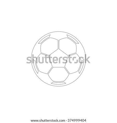 Soccer ball  - vector icon