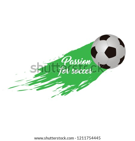 soccer ball with an effect and