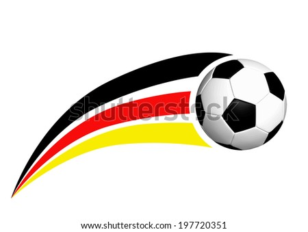 Soccer ball with german strpes