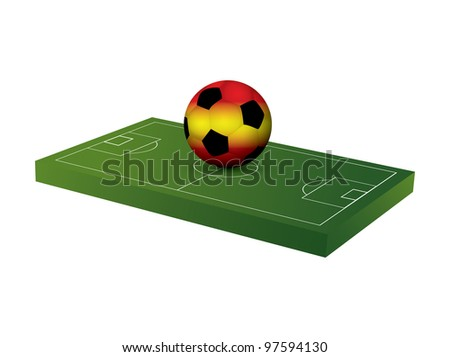 Soccer ball with soccer field