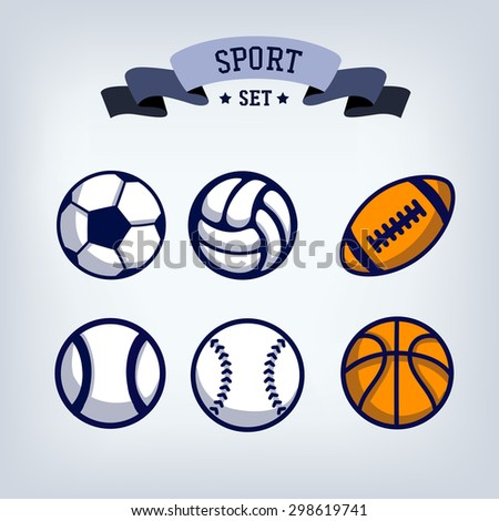 soccer  baseball  volleyball
