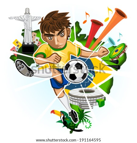 soccer brazil with background