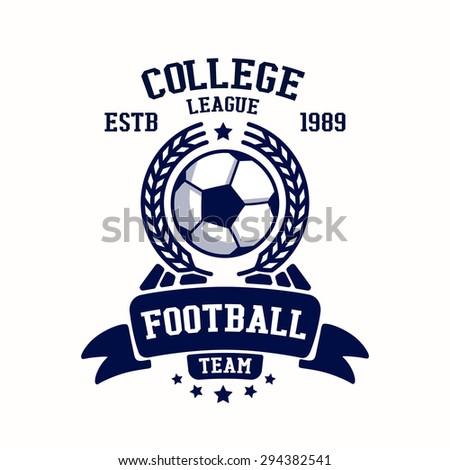Royalty free soccer football club logo template 336558470 stock soccer club emblem college league logo one color design template element football tournament maxwellsz