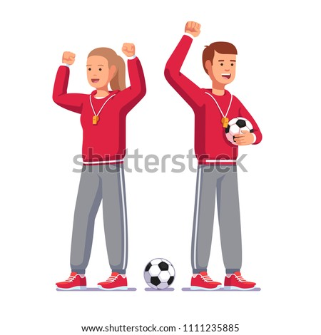soccer coach man   woman