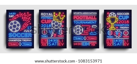 soccer collection posters neon